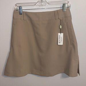 NEW Sport Haley 4 golf skirt women's khaki skort